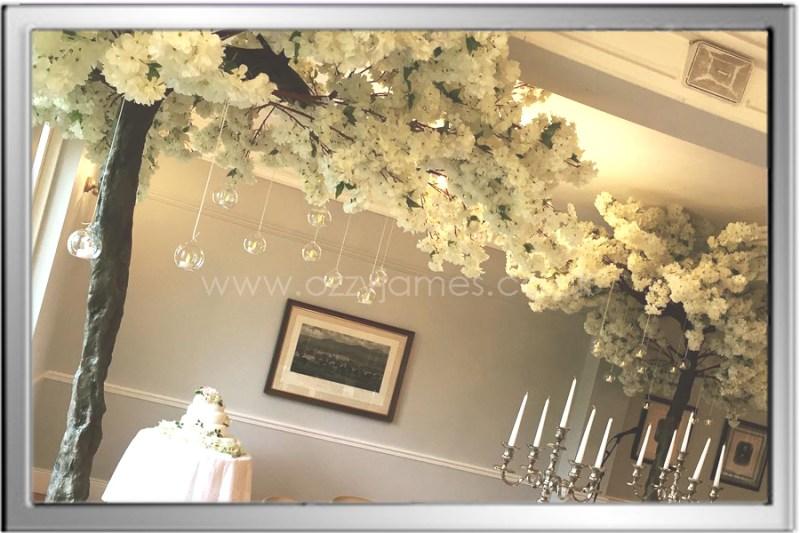 white blossom tree canopy hire merseyside