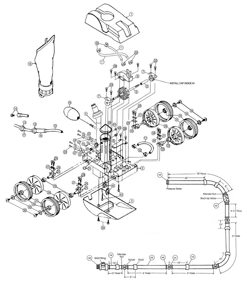 Pentair LX5000G Kreepy Krauly Letro Legend II Pressure
