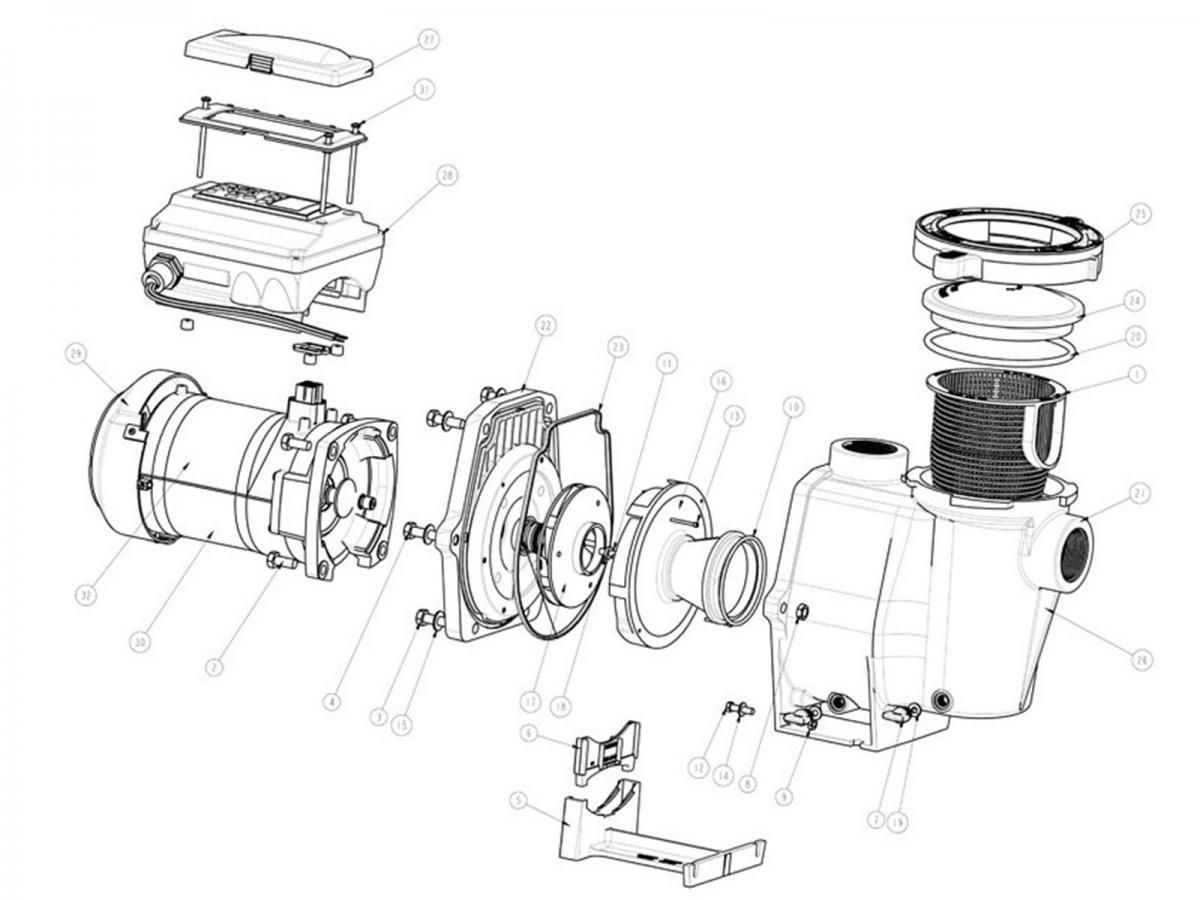 Pentair 011012 IntelliFlo VF Variable Flow Pump 3HP 230V