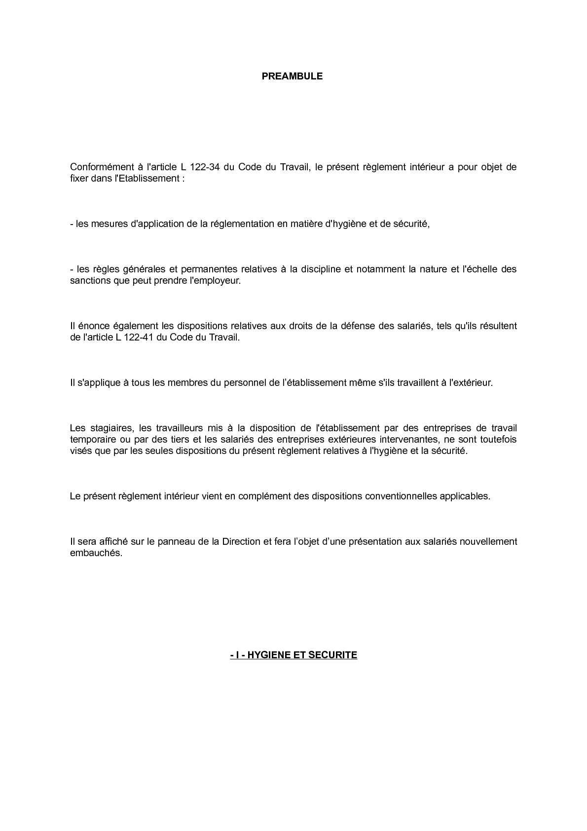 Calamo  Rglement intrieur Carrefour