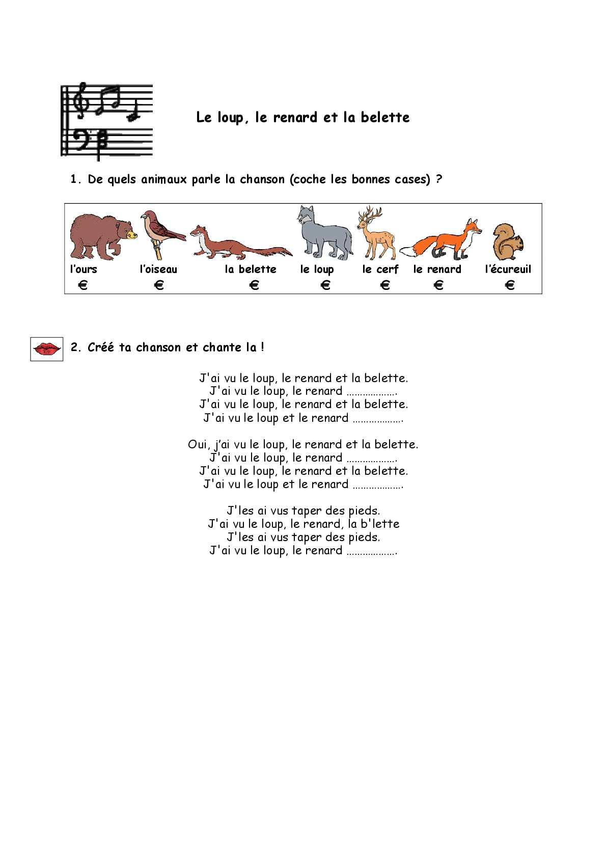 Le Loup Le Renard Et La Belette : renard, belette, Calaméo, Animaux, Loup,, Renard, Belette, (Exercice)
