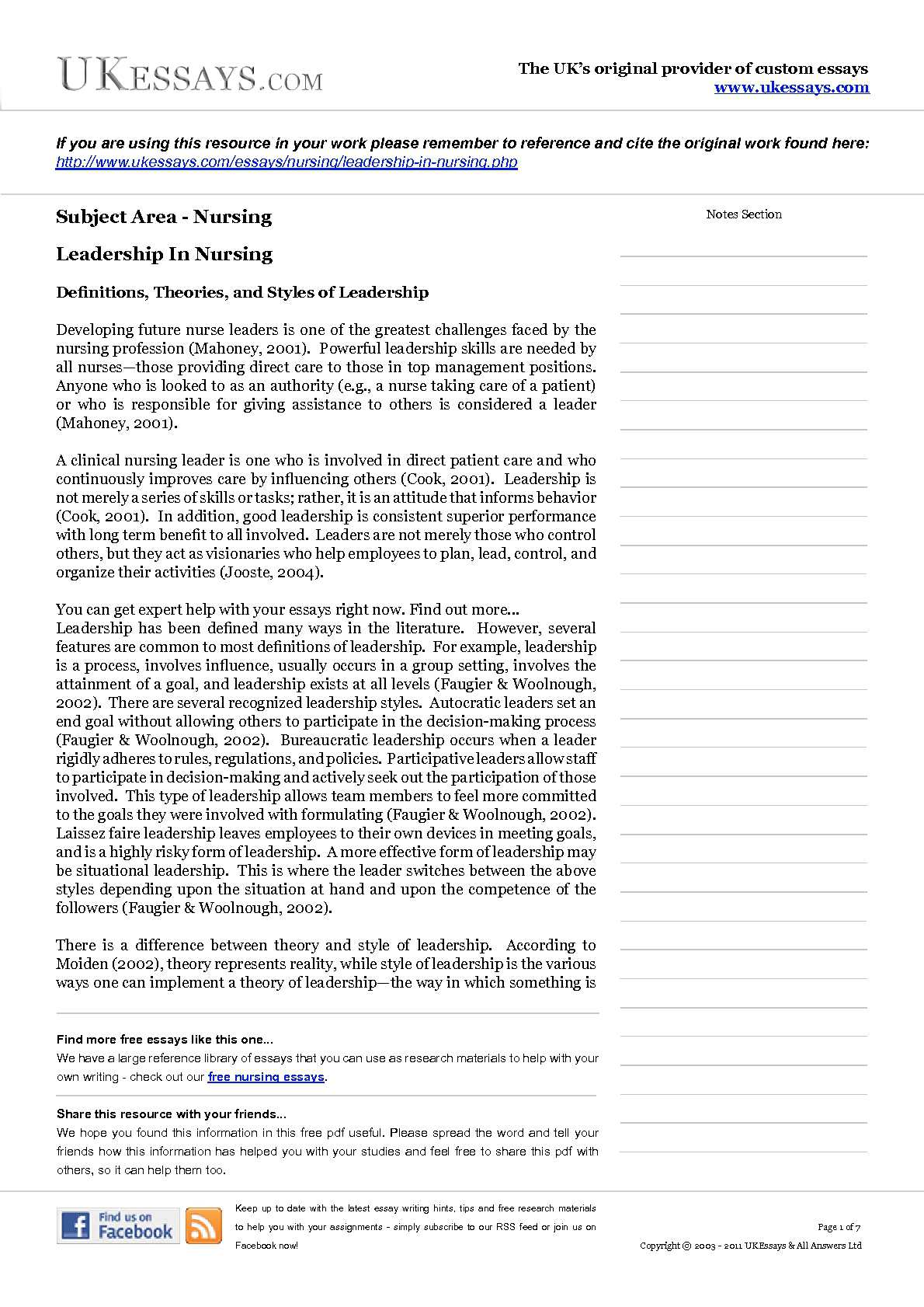 Leadership Essay Topics Nursing Leadership Essay Leadership Research