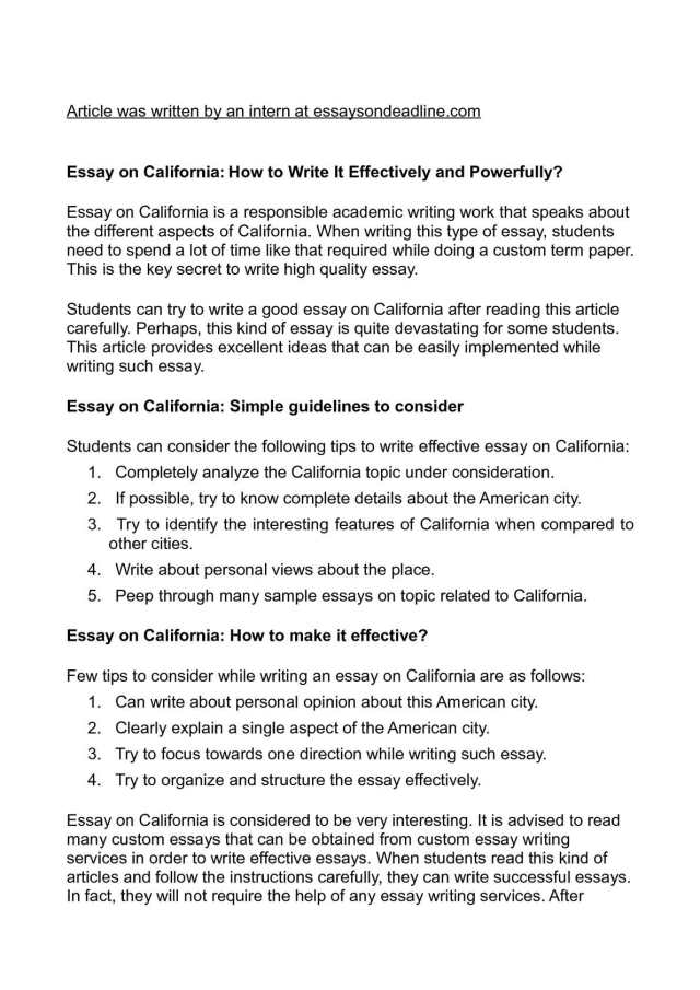 Calaméo - Essay on California: How to Write It Effectively and