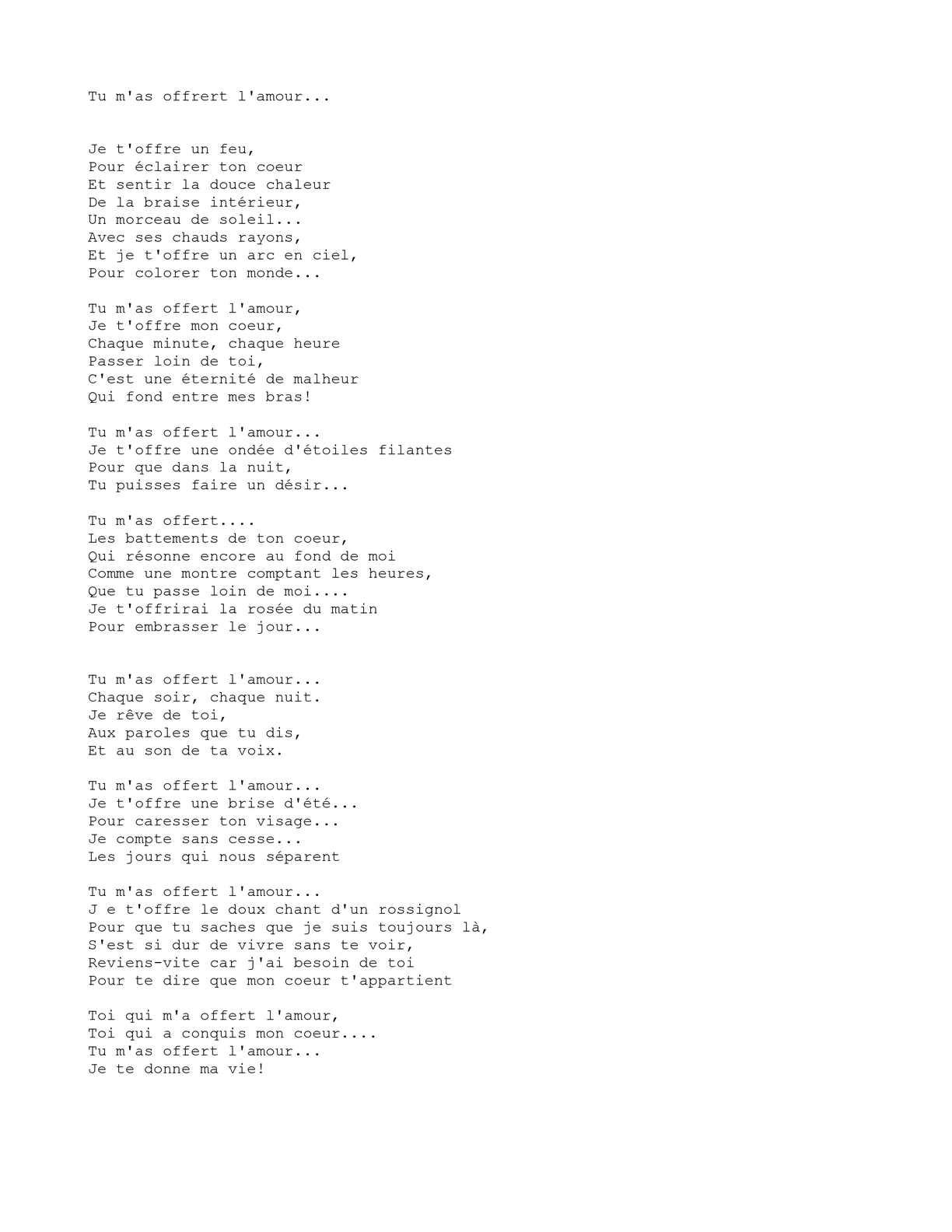 Parole Je Te Le Donne : parole, donne, Calaméo, Offert, L'Amour...