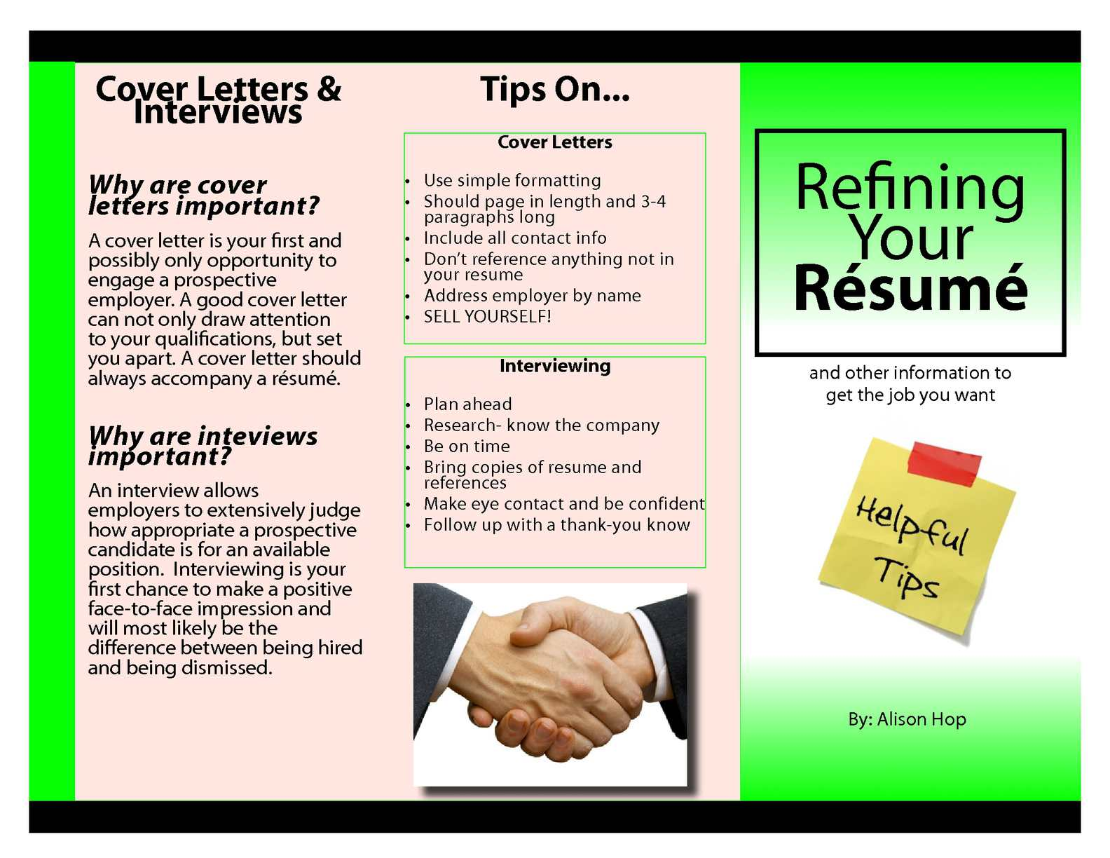 Bring Resume To Interview Calaméo How To Refine Your Resume Brochure