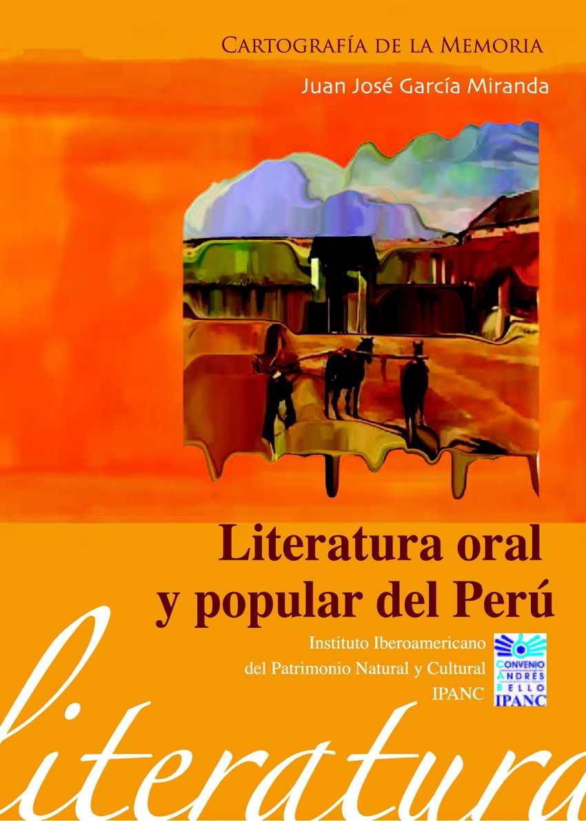 Calamo Literatura Oral Y Popular Del Per