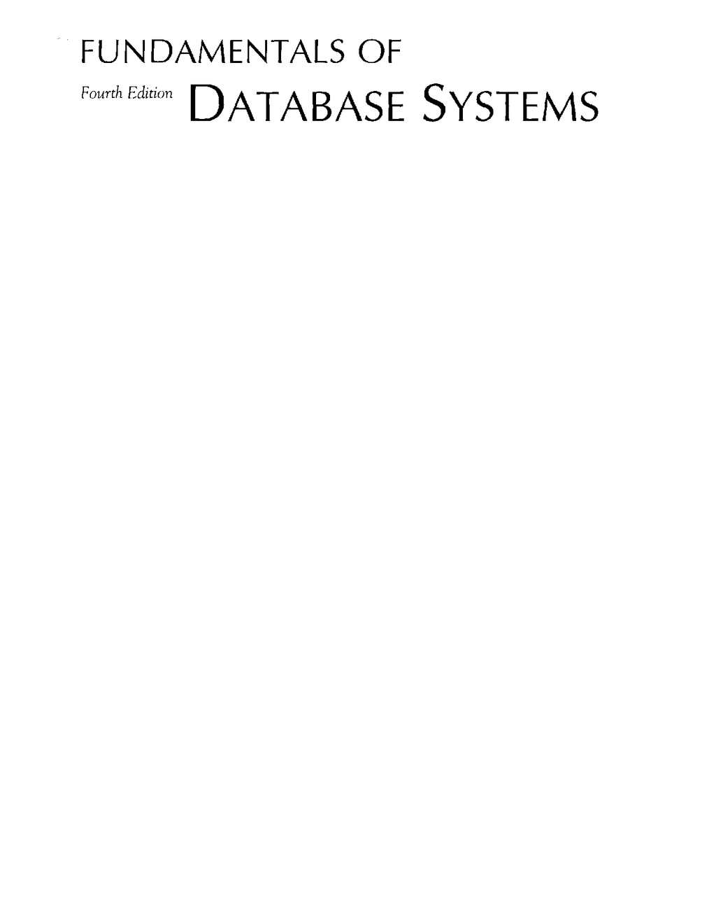 hight resolution of fundamentals of database systems 4th edition