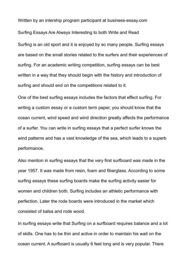 Calaméo - Surfing Essays Are Always Interesting to both Write and Read