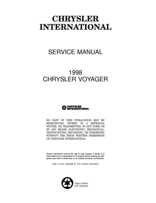 small resolution of chrysler service manual