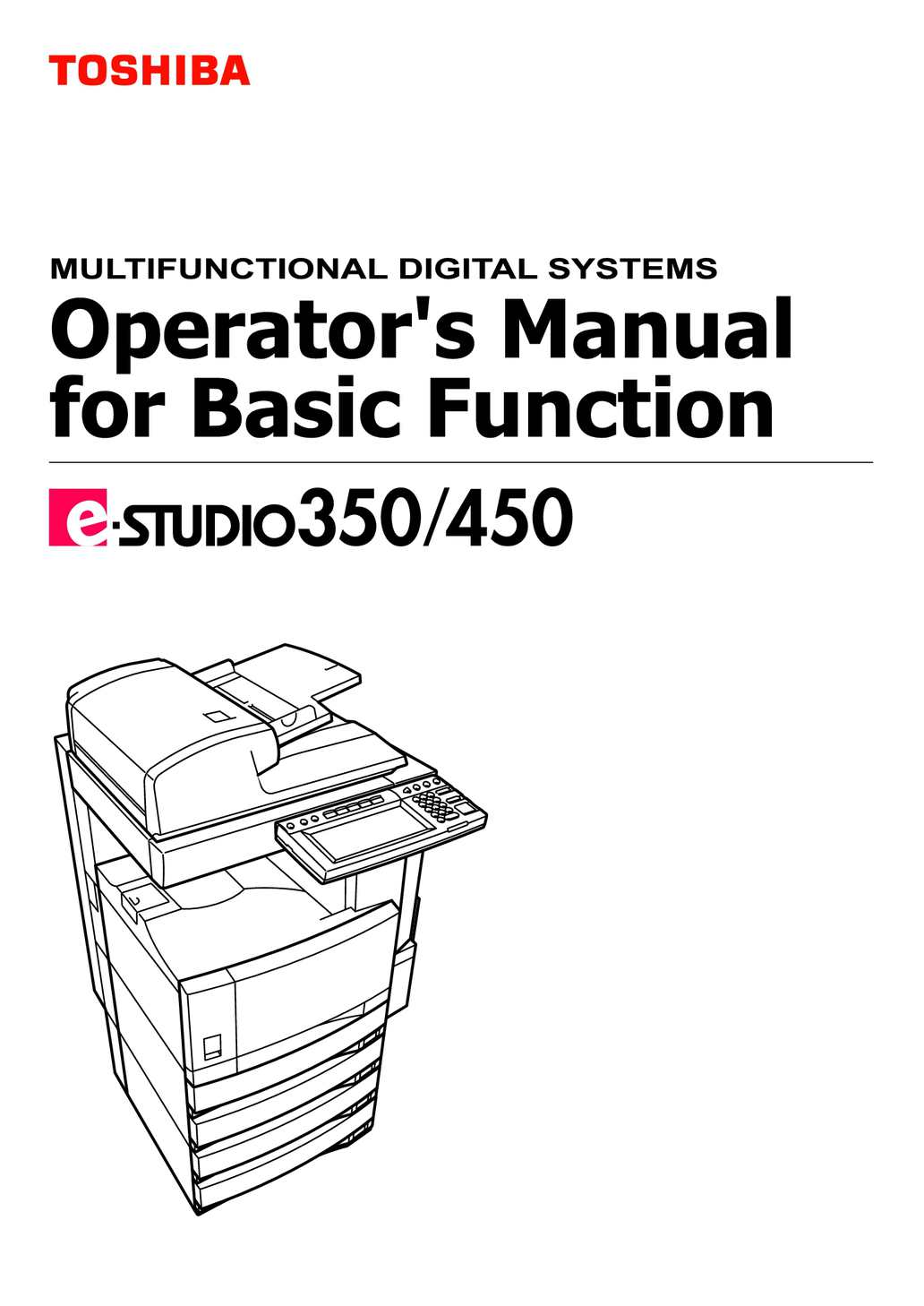 Bestseller: Toshiba Copier And Mfp Service Manual