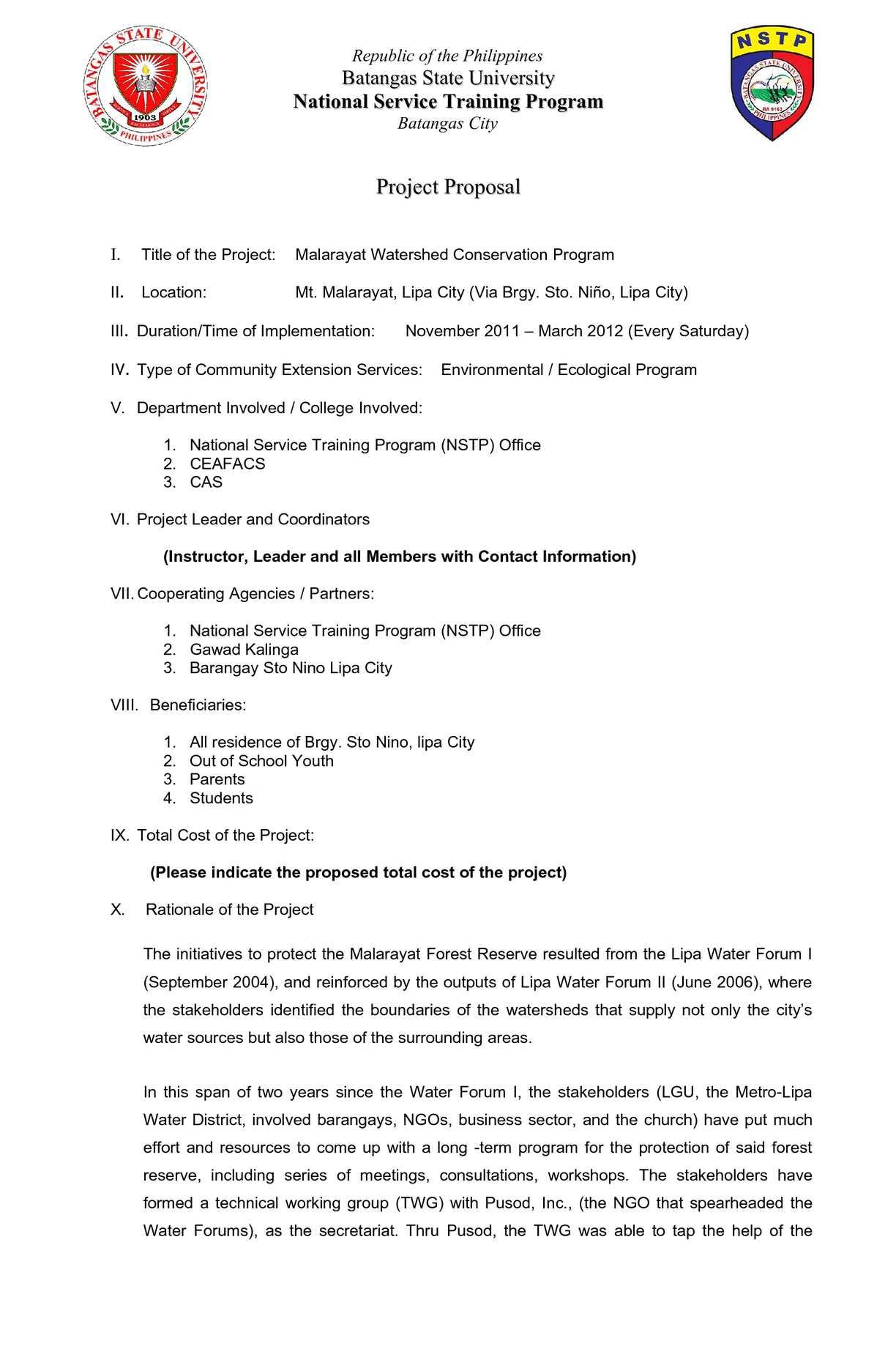 Calaméo Nstp Proposal Format