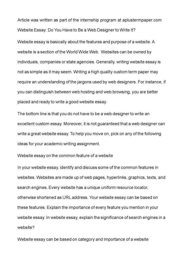 Calaméo - Website Essay: Do You Have to Be a Web Designer to Write It?