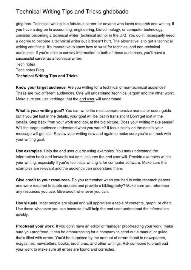 Calaméo - Technical Writing Tips and Tricks ghdbbadc