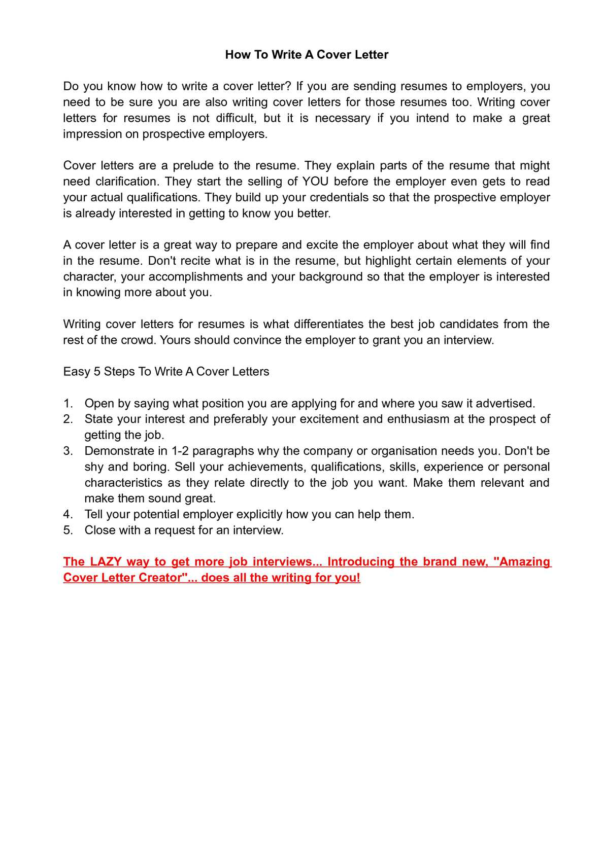 Writing Cover Letters Calaméo How To Write A Cover Letter