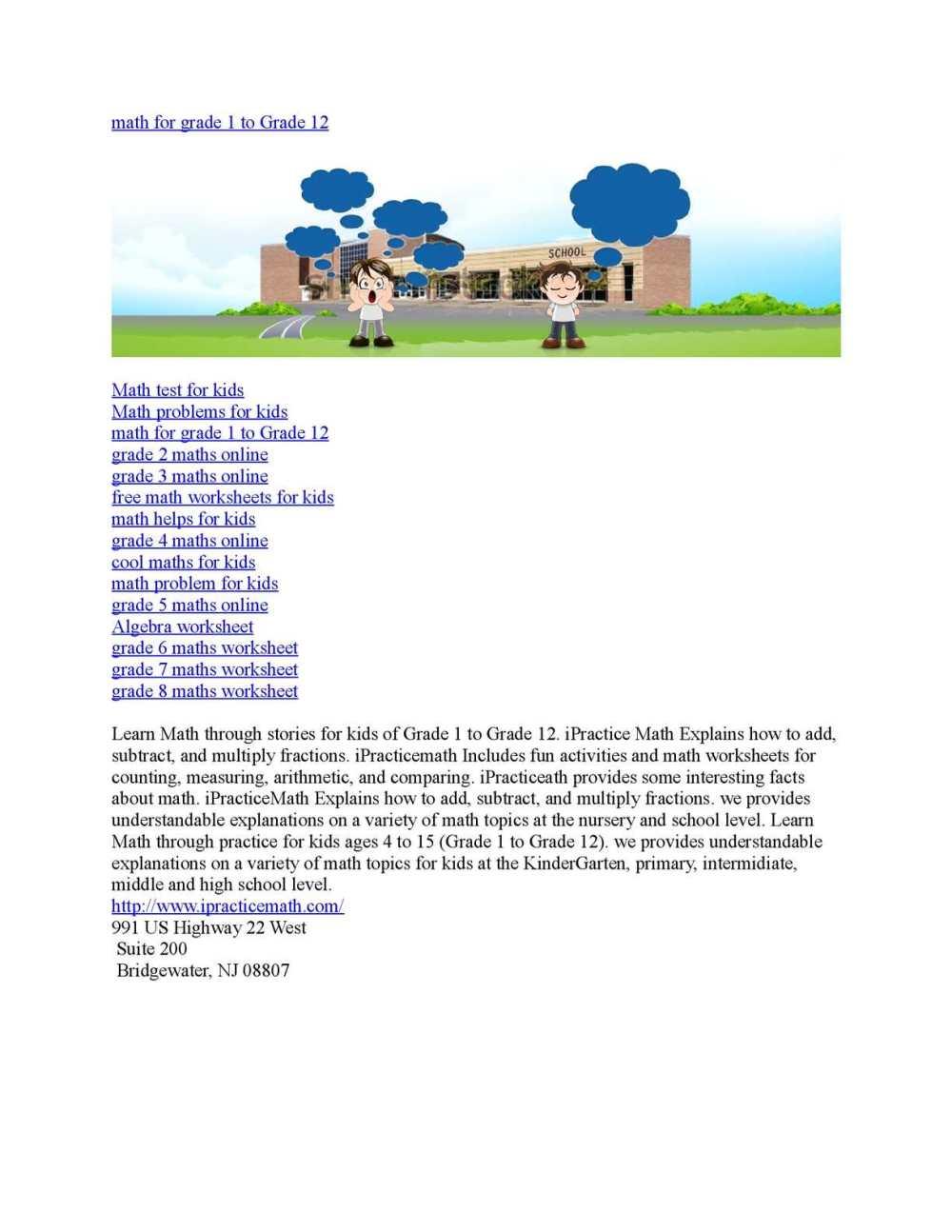 medium resolution of Calaméo - math for grade 1 to Grade 12