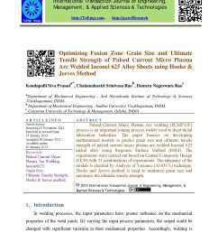 calam o optimizing fusion zone grain size and ultimate tensile strength of pulsed current micro plasma arc welded inconel 625 alloy sheets using hooke  [ 1190 x 1684 Pixel ]