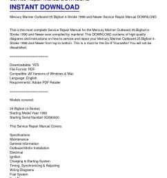 calam o mercury mariner outboard 25 bigfoot 4 stroke 1998 and newer service repair manual download [ 1224 x 1584 Pixel ]