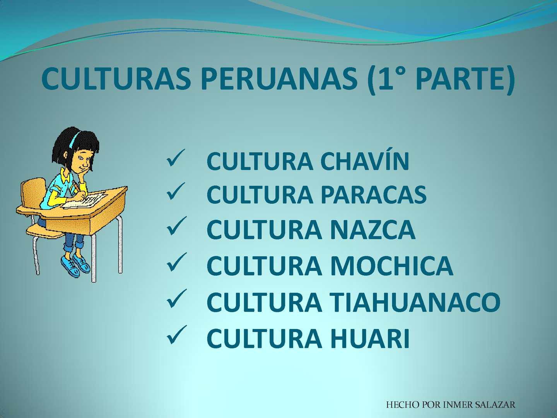 Calamo  CULTURAS PERUANAS 1PARTE