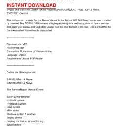 calam o bobcat 963 skid steer loader service repair manual download 562215001 above 516515001 above [ 1224 x 1584 Pixel ]