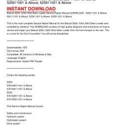 bobcat s250 s300 skid steer loader service repair manual download 526011001 above 526111001 above 525811001 above 525911001 above [ 1224 x 1584 Pixel ]