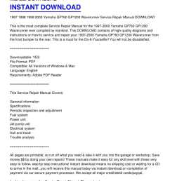 calam o 1997 2000 yamaha gp760 gp1200 waverunner service repair manual download [ 1224 x 1584 Pixel ]