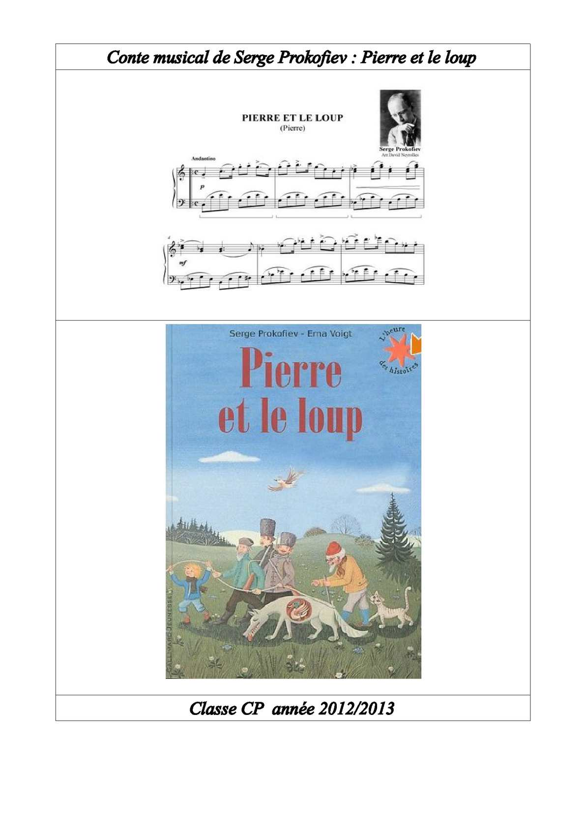 Pierre Et Le Loup Texte : pierre, texte, Calaméo, Pierre