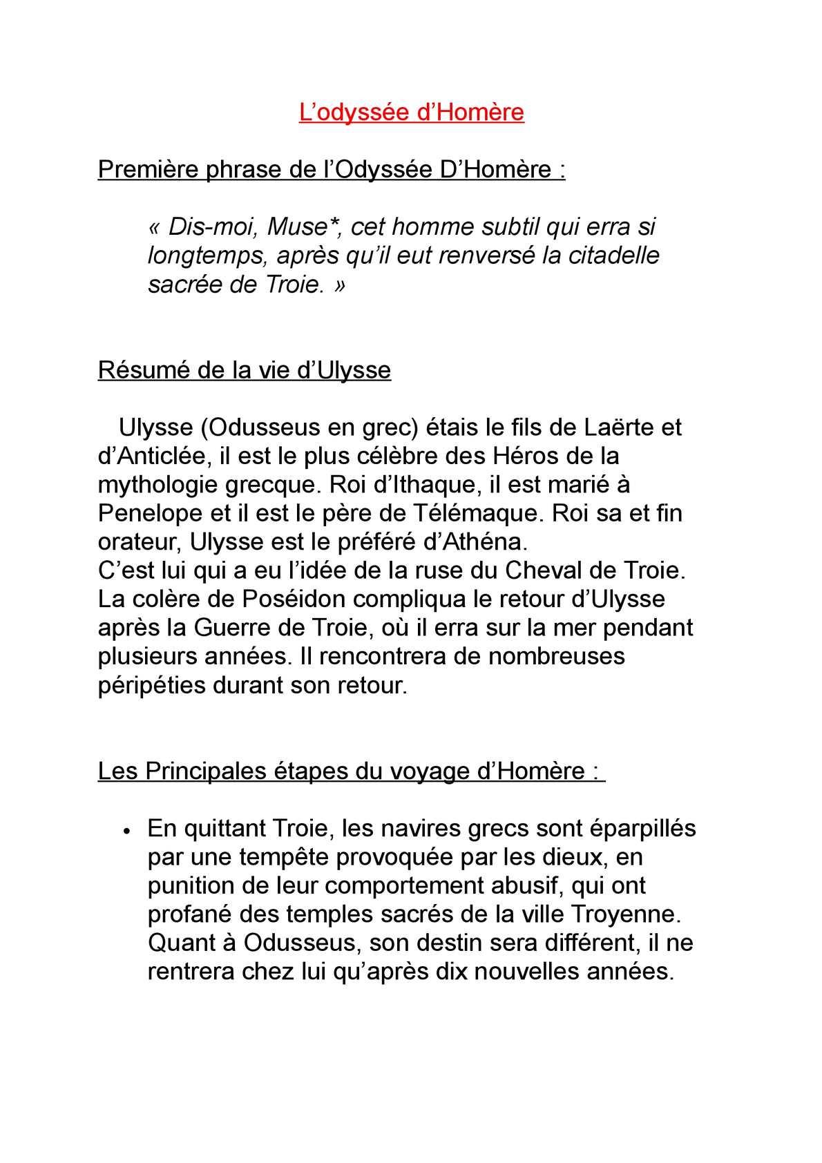 Bibliocollège - Odyssée, Homère - Poche - Homère, Monique