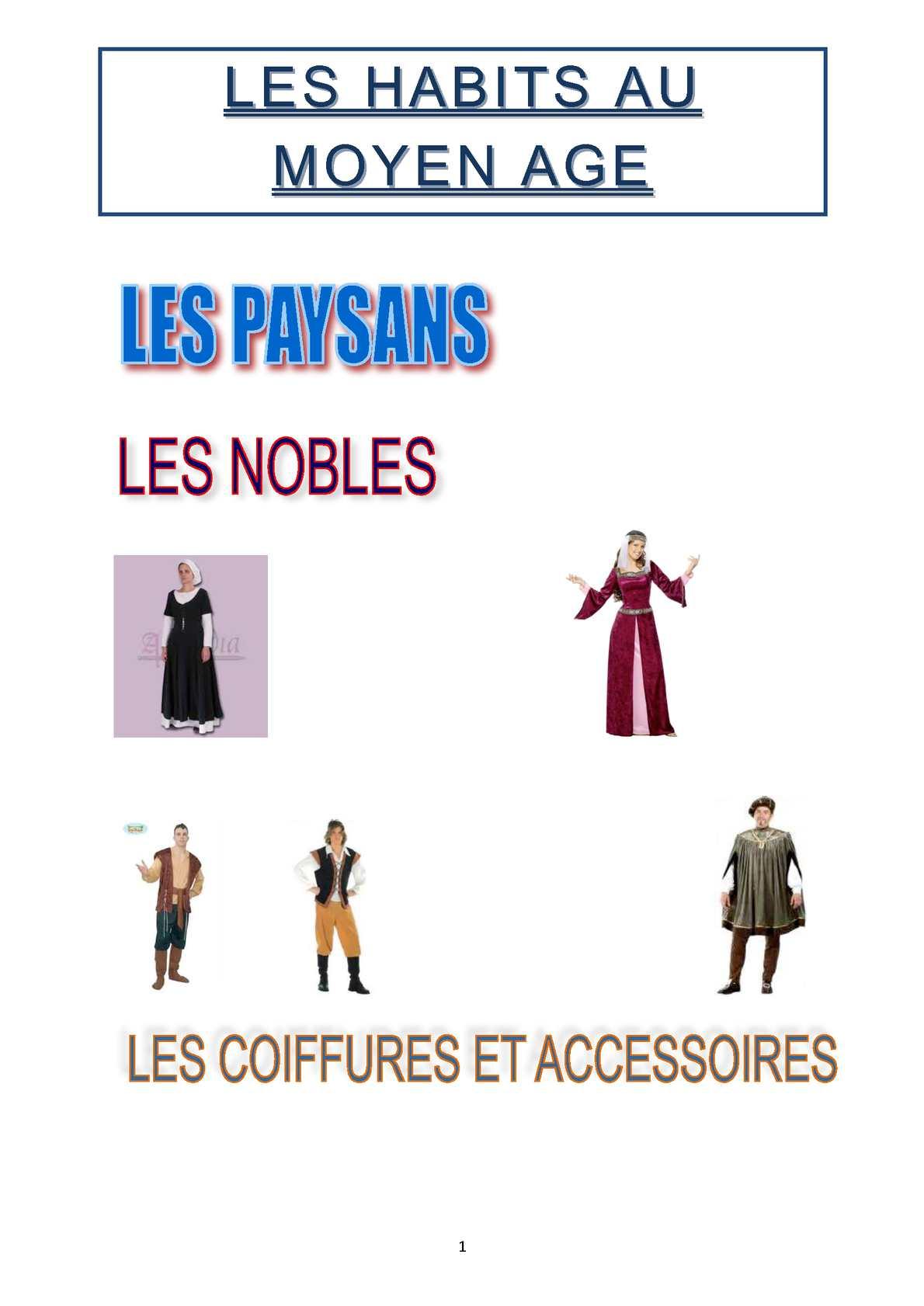 Vêtements Du Moyen Age Pour Les Nobles : vêtements, moyen, nobles, Calaméo, S'habiller, Moyen