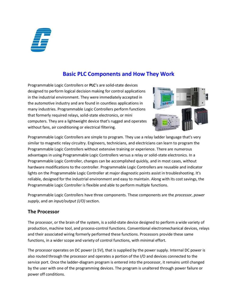 medium resolution of programmable logic controller basic plc components
