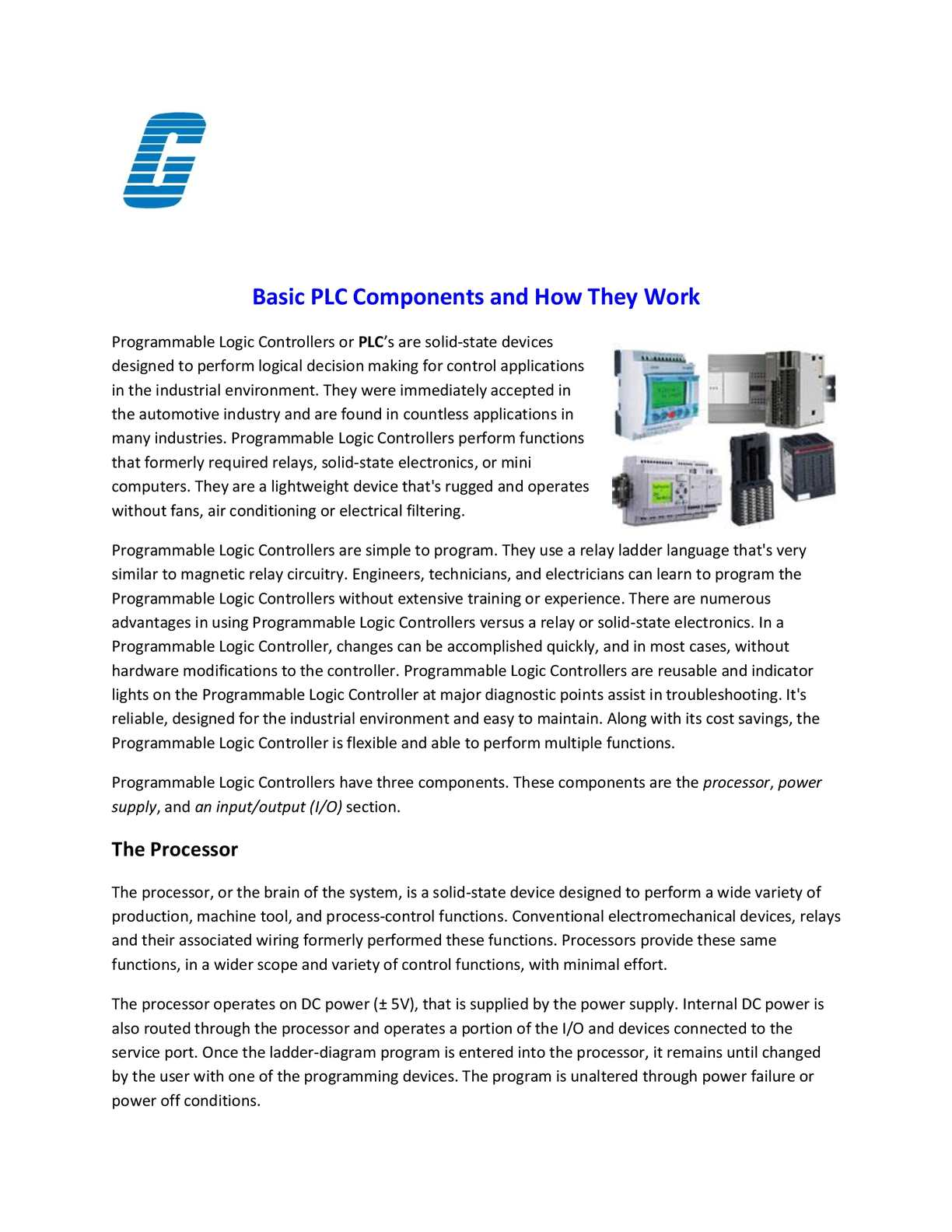 hight resolution of programmable logic controller basic plc components