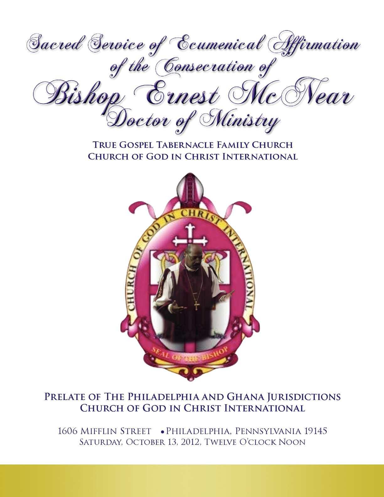 Calaméo - Program Booklet for Church Anniversary Dinner