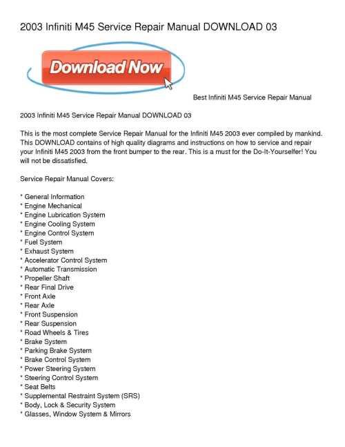 small resolution of calam o 2003 infiniti m45 service repair manual download 03