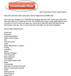 2002 2006 toyota camry service repair manual download [ 1224 x 1584 Pixel ]