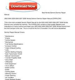 2003 2008 honda element service repair manual download [ 1224 x 1584 Pixel ]