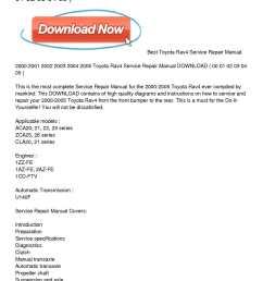 2000 2005 toyota rav4 service repair manual download [ 1224 x 1584 Pixel ]