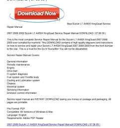 calam o 2007 2009 suzuki lt a450x kingquad service repair manual download [ 1224 x 1584 Pixel ]