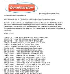 calam o 2004 skidoo ski doo rev series snowmobile service repair manual download [ 1224 x 1584 Pixel ]