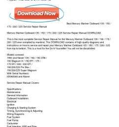 calam o mercury mariner outboard 135 150 175 200 225 service repair [ 1224 x 1584 Pixel ]