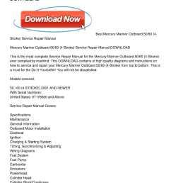 mercury mariner outboard 50 60 4 stroke service repair manual download [ 1224 x 1584 Pixel ]