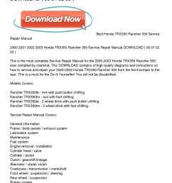 2000 2003 honda trx350 rancher 350 service repair manual download [ 1224 x 1584 Pixel ]