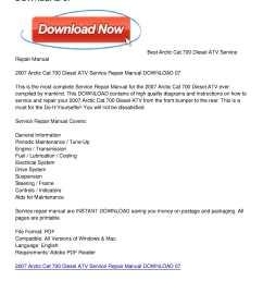 calam o 2007 arctic cat 700 diesel atv service repair manual download 07 [ 1224 x 1584 Pixel ]