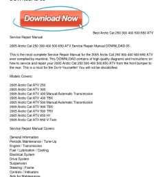 calam o 2005 arctic cat 250 300 400 500 650 atv service repair manual download 05 [ 1224 x 1584 Pixel ]