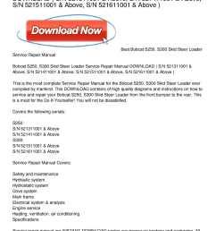 calam o bobcat s250 s300 skid steer loader service repair manual download [ 1224 x 1584 Pixel ]