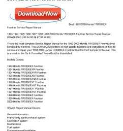 1993 2000 honda trx300ex fourtrax service repair manual download [ 1224 x 1584 Pixel ]