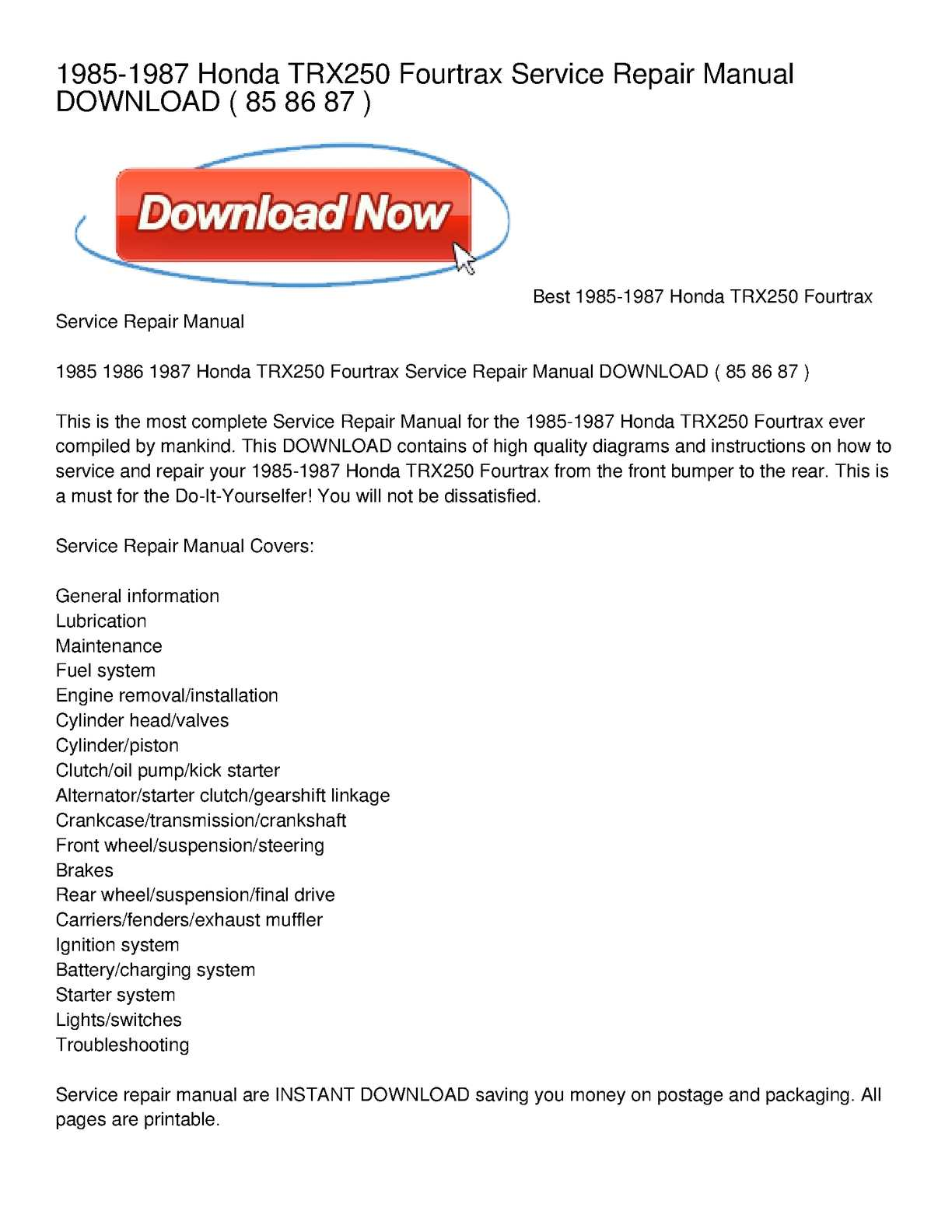 hight resolution of 1987 honda trx 90 wiring diagram schematic