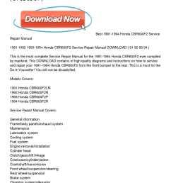 1991 1994 honda cbr600f2 service repair manual download [ 1224 x 1584 Pixel ]