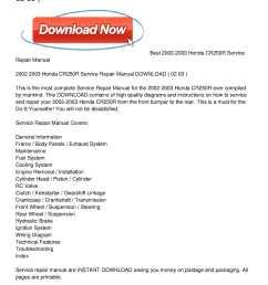 2002 2003 honda cr250r service repair manual download [ 1224 x 1584 Pixel ]
