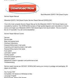 mitsubishi d04fd taa diesel engine service repair manual download [ 1224 x 1584 Pixel ]