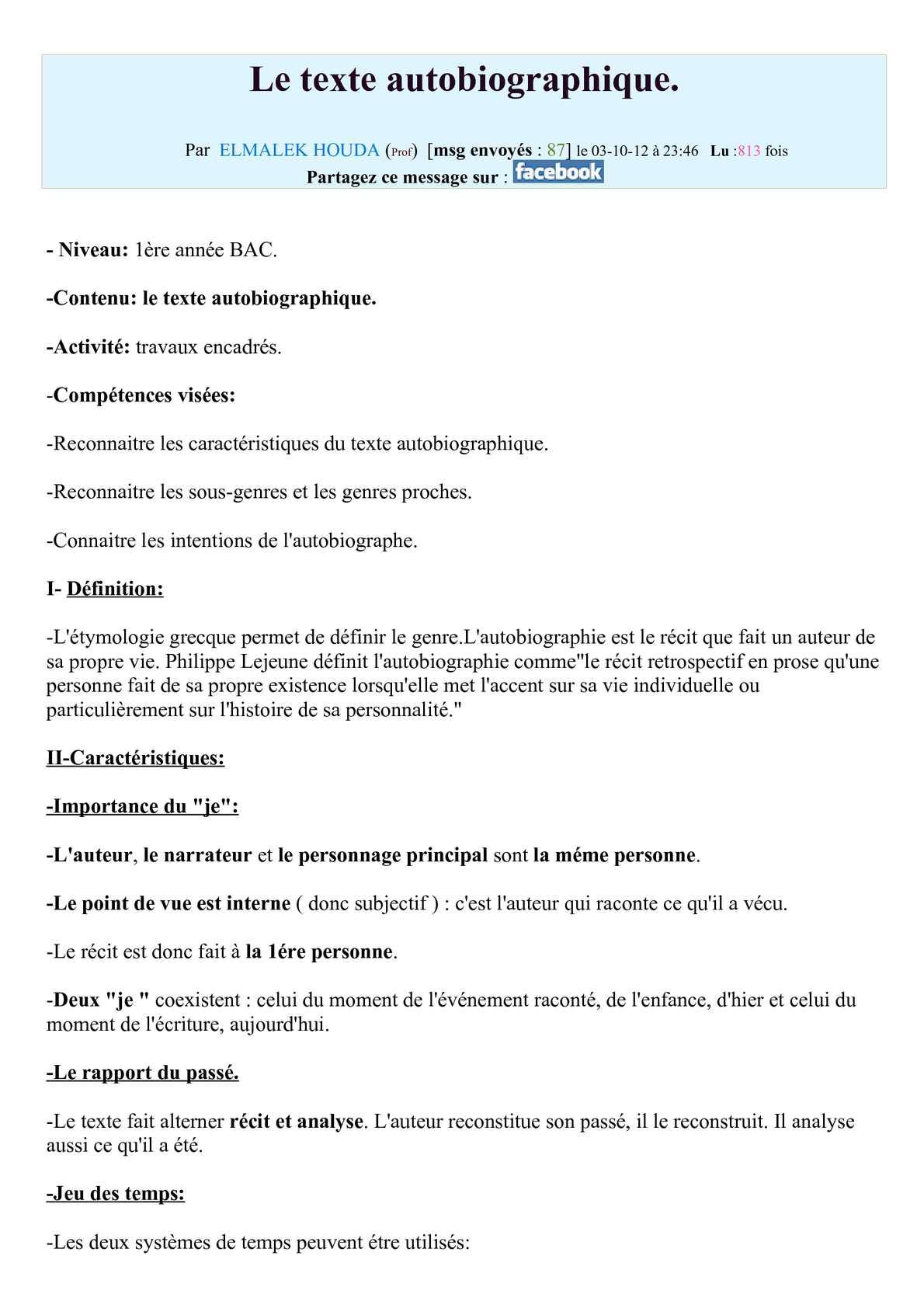 Point De Vue De L Auteur : point, auteur, Calaméo, Texte, Autobiographique