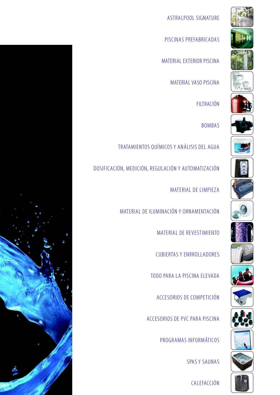 Calamo  Catalogo Tarifa Astralpool 2012